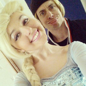Kristoff and Queen Elsa