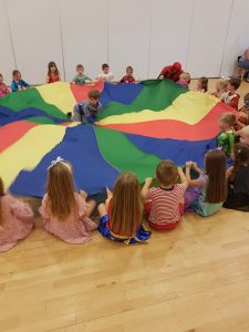 Parachute Play with Spider Man