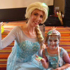 Queen Elsa Frozen Mascot Appearance