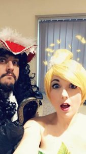 Tinker Bell and Captain Hook Party Entertainers