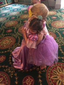 Rapunzel with the birthday girl