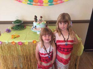 Children attending a Moana party