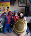 Wonder Woman adn Spider Man in Kegworth