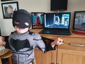 Virtual party with Batman