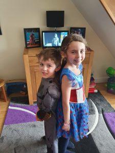 Online virtual superhero party
