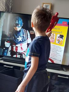 FaceTime with Captain America
