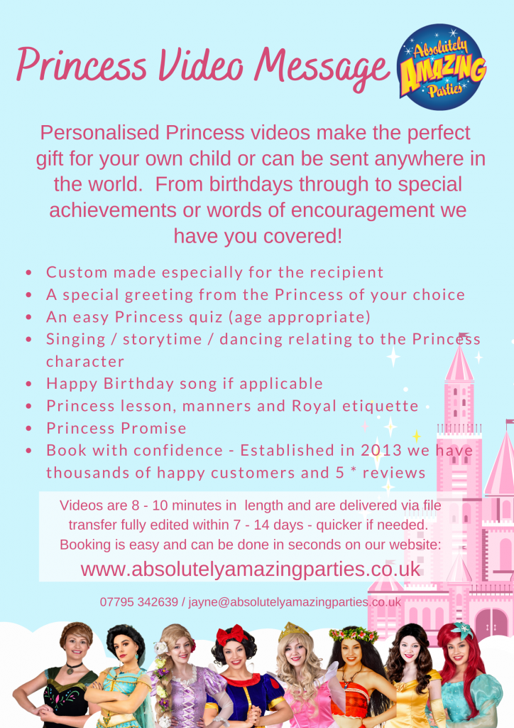 Personalised Princess Messages