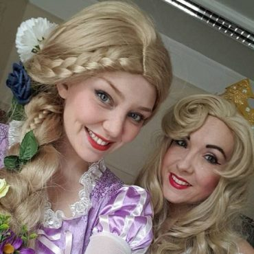 Double the fun! A joint themed party inspired by Sleeping Beauty and Rapunzel