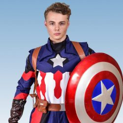 Captain America party entertainer