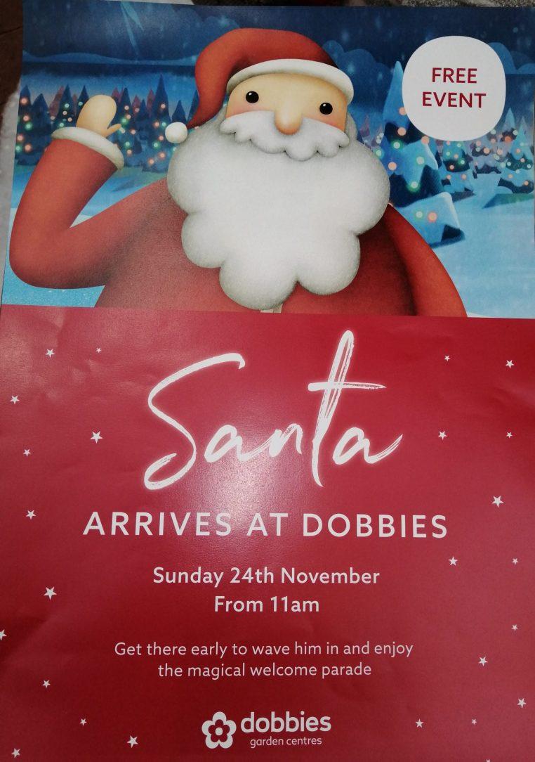 Santa Arriving at Dobbies Garden Centre